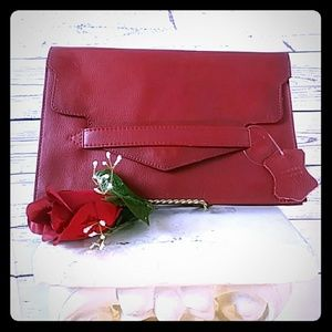 Handbags - 🌹Red Leather Clutch
